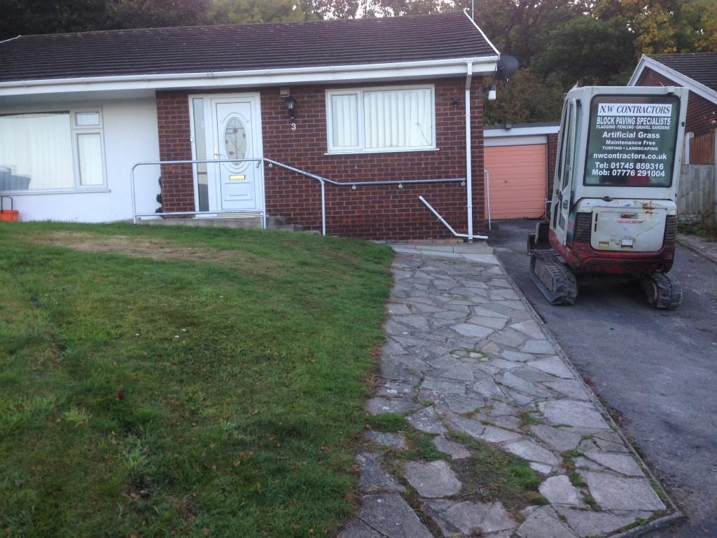 Sloped Block Paving Driveway Dyserth North Wales - NW